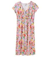 Joules Jude Jersey Wrap Dress (White Meadow) **Now With 30% Off**