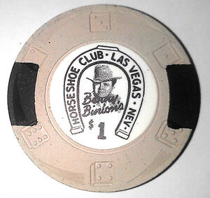 $1 Las Vegas Horseshoe Downtown Uncirculated Casino Chip