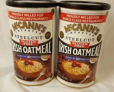 2 Canisters McCann's Gluten Free Steel Cut Irish Oatmeal 30 Oz Each