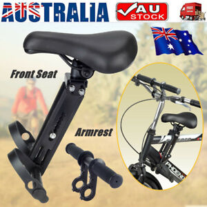 New Front Mounted Child Bike Seat Kids Top Tube Bicycle Detachable Seat &Armrest