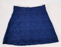 Forever 21 Women's Blue Lace Mini Skirt Size XS