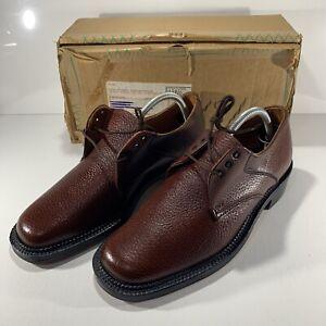 Vintage Saville Row Mens Plain Toe Derby Brown Shoe Size UK 8
