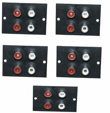 Aerzetix RCA femelle Phono Socket Panel – 4 Sockets ()