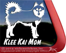 Klee Kai Mom | Alaskan Klee Kai Vinyl Dog Decal Sticker