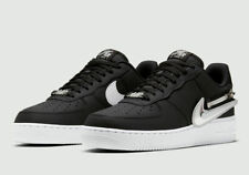 Nike Air Force 1 '07 Premium Black Swoosh Zipper Shoes CW6558-001 Men's Sizes