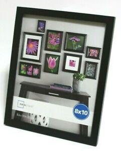 """Mainstays Linear 8"""" x 10"""" Home Décor Photo Frame Black"""