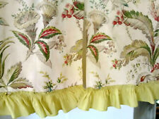 Vintage early mid century art deco era fabric curtains drapes drapery panels+