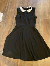 Hot Topic Black And White Collar Dress Sleeveless Dress Wednesday Adams Gothic S