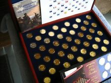 US Statehood Quarters 24KT Gold Layer Edition 1999-2008 from Morgan Mint $350