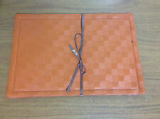 New Vintage 1960s 2 Table Placemats & 1 Coaster, Orange Brown Retro