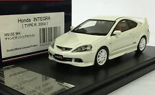 1:43 HI-STORY HS105WH HONDA INTEGRA DC5 TYPE-R ACURA RSX scale model car