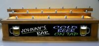 COLOR LED'S Personalized 18 BEER tap handle display w/ neon style font