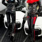 OCASSION Pantalon de femmes Tube simili cuir taille basse en tissu Brillance