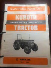 Kubota M4500 M4500DT Tractor Illustrated Parts List Manual