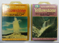 Vintage 1981 Yellowstone National Park Audio Tape Tour, 2 Cassettes with Maps