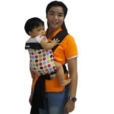 NEW MEI TAI BABY SLING CARRIER REVERSIBLE(Multi dot on white)