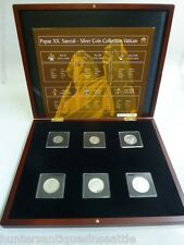 Papae XX. Saeculi - Silver Coin Collection Vatican Set of 6  *Mint Condition*