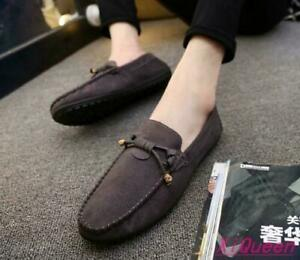 Tassel Mens Suede Shoes Moccasin Gommino Slip On Fashion Round Toe Loafers Flats