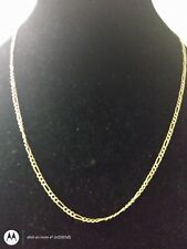 Figarro Necklace! Heavy Duty! 14Kt Solid Yellow Gold 22""