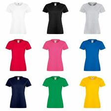 Fruit of the Loom Women's Short Sleeve Sleeve Cotton Blend T-Shirts