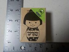 HERO ARTS #F5642 GIRL THINKING OF YOU WOOD MOUNTED RUBBER STAMPS NEW A1737