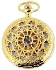 Taschenuhr weiß Gold römisch mechanisch Handaufzug analog X-485602000012