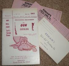 Esman's 1965 Reloading Equipment & Gun Catalog & Order Forms/Envelope