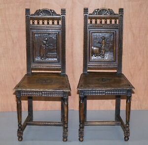 STUNNING PAIR OF FRENCH BRITTANY CHAIRS CIRCA 1880-1900