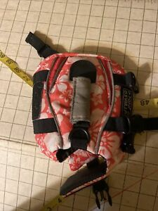 Outward Hound Life Jacket Pink Floral Small EUC