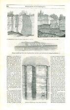 Formes Roches Rochers Fissure Île de Sky/archipel des Hébrides/Etna GRAVURE 1840