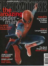 Revue magazine cinéma PREMIERE N°425-426 juillet-août 2012 Spiderman Batman