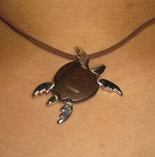 Necklace Gianni Liverani coconut shell silver plated Zama alloy Sea Turtle New!