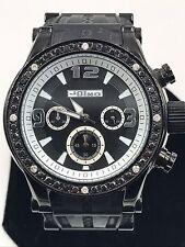 Mens Jojo Jojino Joe Rodeo Black Diamond Rubber Band Watch 2.0 Ct