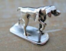 Sterling Silver German Pointer GSP Gun Dog Miniature Hunting Shooting Game