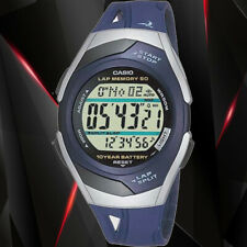 Casio STR300C-2V Women's PaceMaker Blue Watch 60 Data Sets Lap Memory New