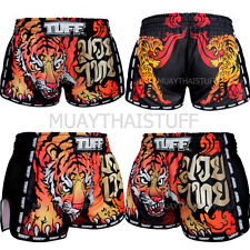 Tuff Boxing Muay Thai Shorts Retro Style Micro Fabric Hot Tiger M