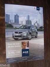 Suzuki sx4 City Spécial Modèle Prospectus/Brochure/DEPLIANT, d, 4.2011