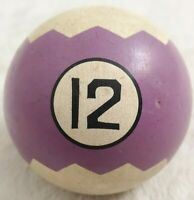 Antique Zig Zag Hyatt Albany Billiard Brunswick Balke & Collender Pool Ball 12