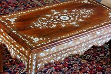 MIDDLE EASTERN COFFEE TABLE INLAID WITH MOTHER OF PEARL.
