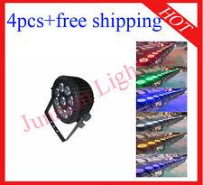 4pcs 9*18W RGBWAP 6 in 1 Waterproof Led Par Light DJ Stage Par64 Free Shipping