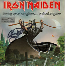 """Iron Maiden Signed Bring Your Daughter...To The Slaughter 7"""" Vinyl EMS 171  1990"""