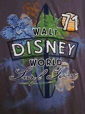 WALT DISNEY WORLD Surf Team med T shirt Established 1971 tee Mickey Mouse