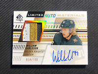 2019-20 SP AUTHENTIC WILLIAM KARLSSON LIMITED AUTO MATERIALS PATCH #ed 14/100