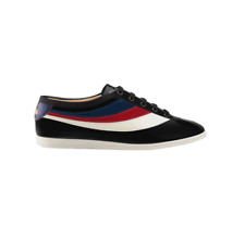 Gucci Men's Falacer Web Side Patent Leather Sneakers