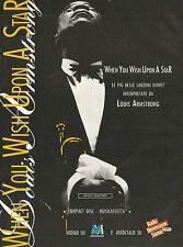 X2730 Louis Armstrong - Le più belle canzoni Disney - Pubblicità 1995 - Advert.