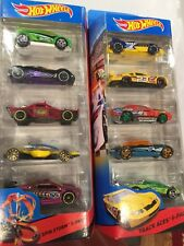Hot Wheels 5 Pack Lot of 2 RACE NEW SEALED Spin Storm and Track Aces
