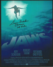 Jaws 1st Victim autographed 8x10 color photo shark looking up