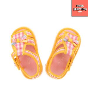 BALDUCCI A.VERIS Slingback Sandals EU21 UK4.5 US5.5 Gingham Pattern Bow Cut Out