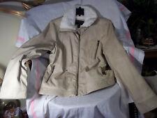 Bernardo Large Women's Soft Faux Fur Lining Motorcycle Jacket/ Coat