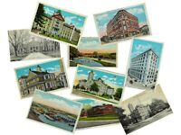 LOT 10 Chester Pennsylvania 1910-30s VINTAGE POSTCARDS Curt Teich at $.85 each!